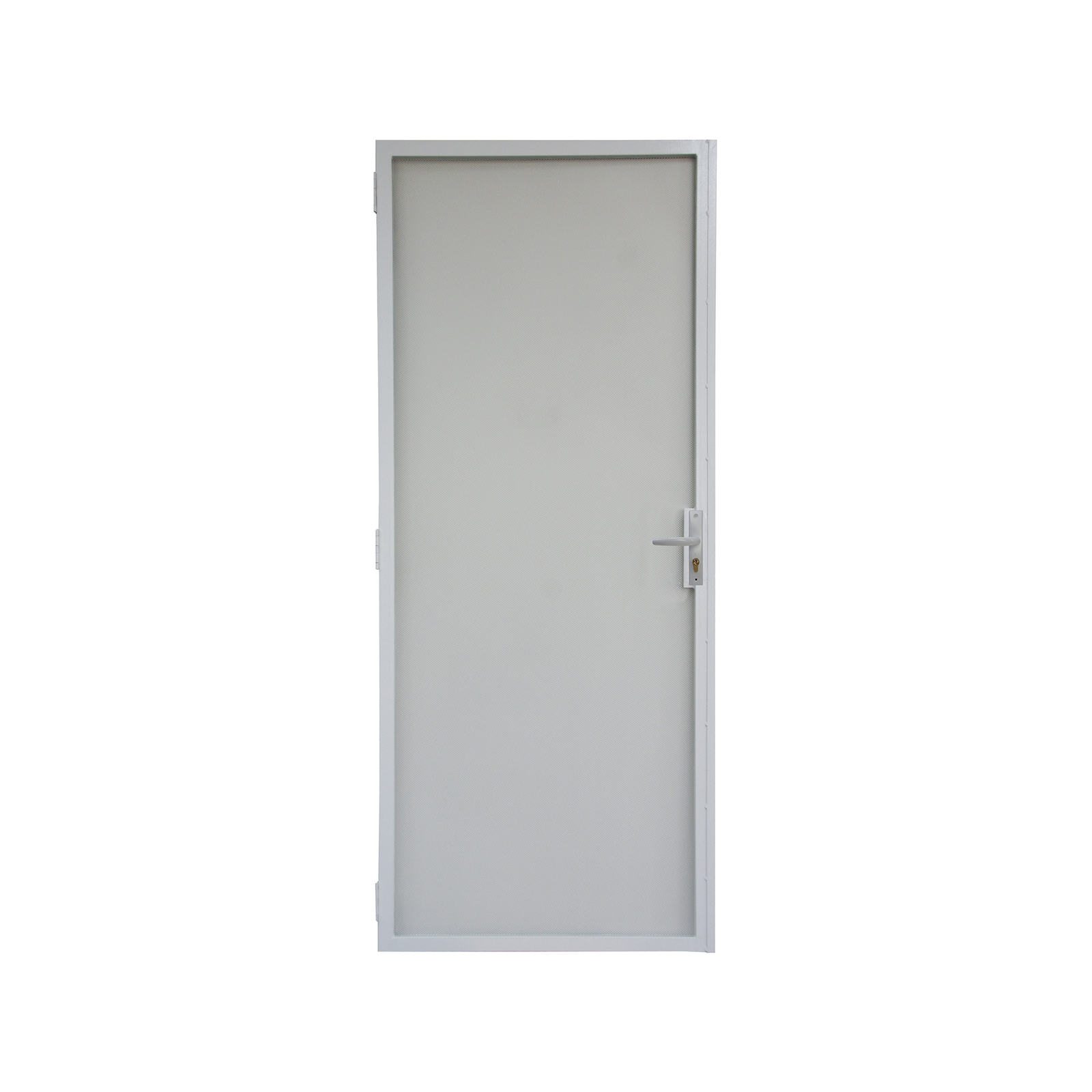 Pillar 2024 x 806mm White Contemporary Steel Frame Imp Screen Door