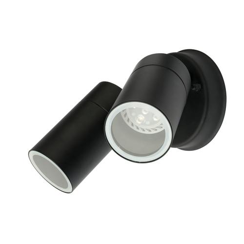 Brilliant Lighting Coolum Black Twin Head Exterior Wall Light