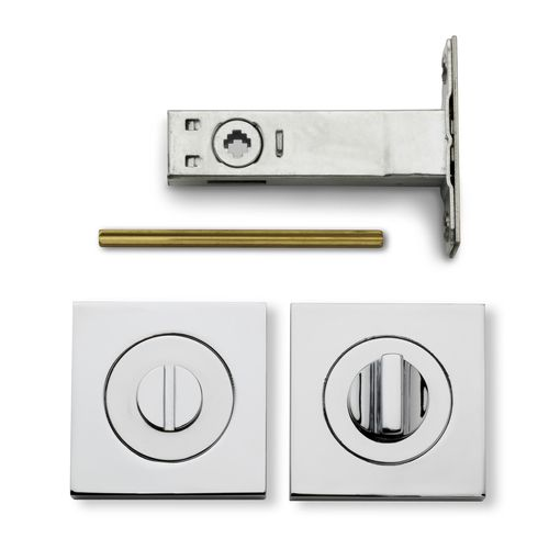 Lemaar 53mm Chrome Plate Square Privacy Set