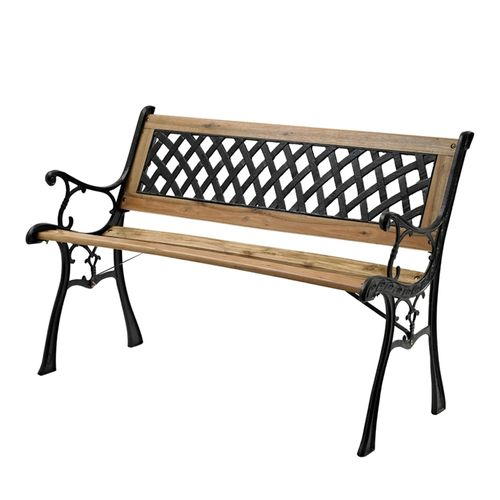 Marquee Cast Iron Back Timber Bench