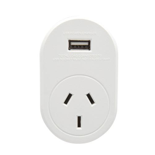 Jackson International Travel Adaptor - Outbound To Europe - With USB Charging Outlet