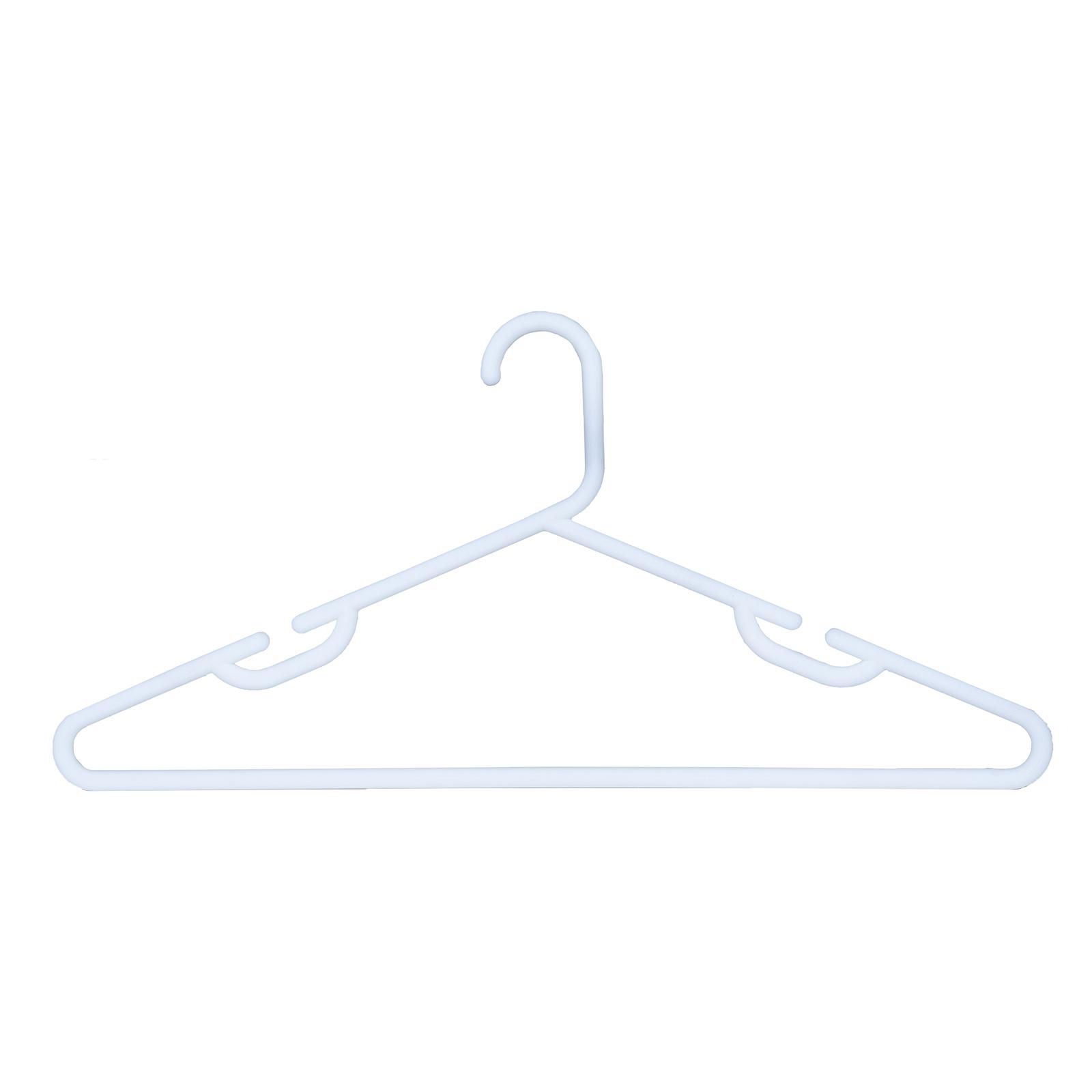Sunfresh 15PK Tube Clothes Hanger Heavy Duty White
