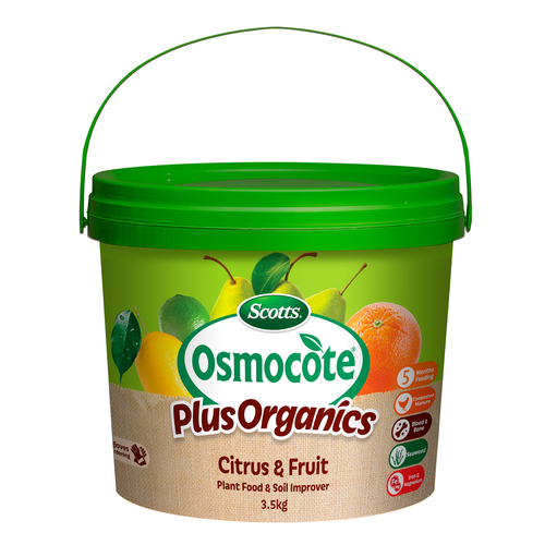 Scotts Osmocote Plus Organics 3.5kg Citrus & Fruit Plant Food & Soil Improver