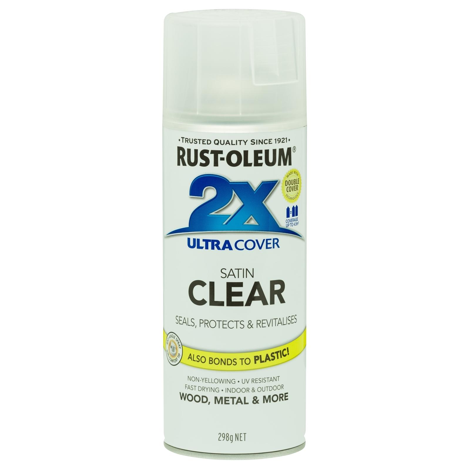 Rust-Oleum 298g 2X Ultra Cover Satin Clear Spray Paint