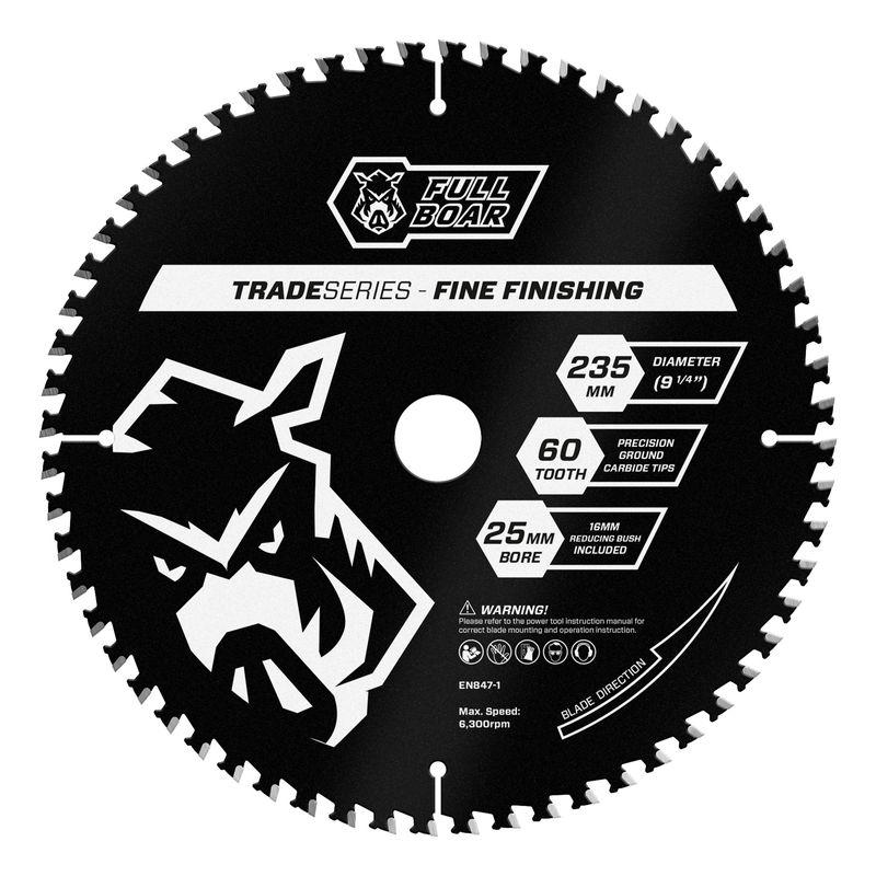 235mm 60t Trade Series Circular Saw Blade