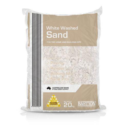 20kg Bag of White Washed Sand