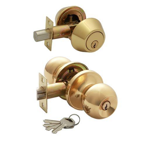 Syneco Brass Ruby Combination Entrance Set