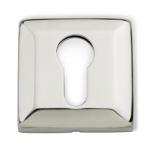 Lemaar 53mm Polished Stainless Steel Square Euro Escutcheon