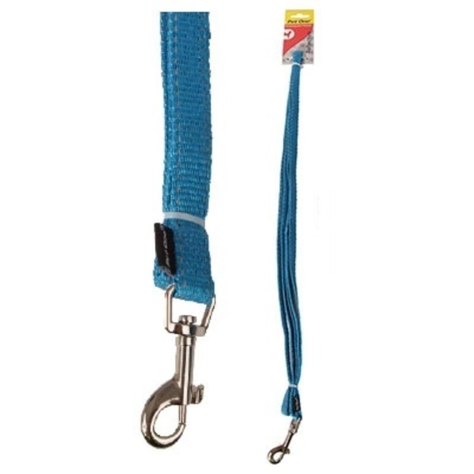 Dog Leash Lead Reflective Nylon - Aqua - 20mm x 150cm (Pet One)