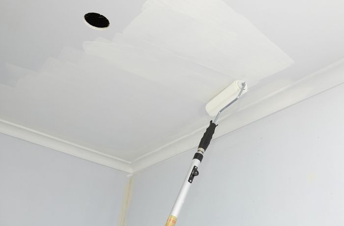 DIY Step Image - How to paint a ceiling . Blob storage upload.