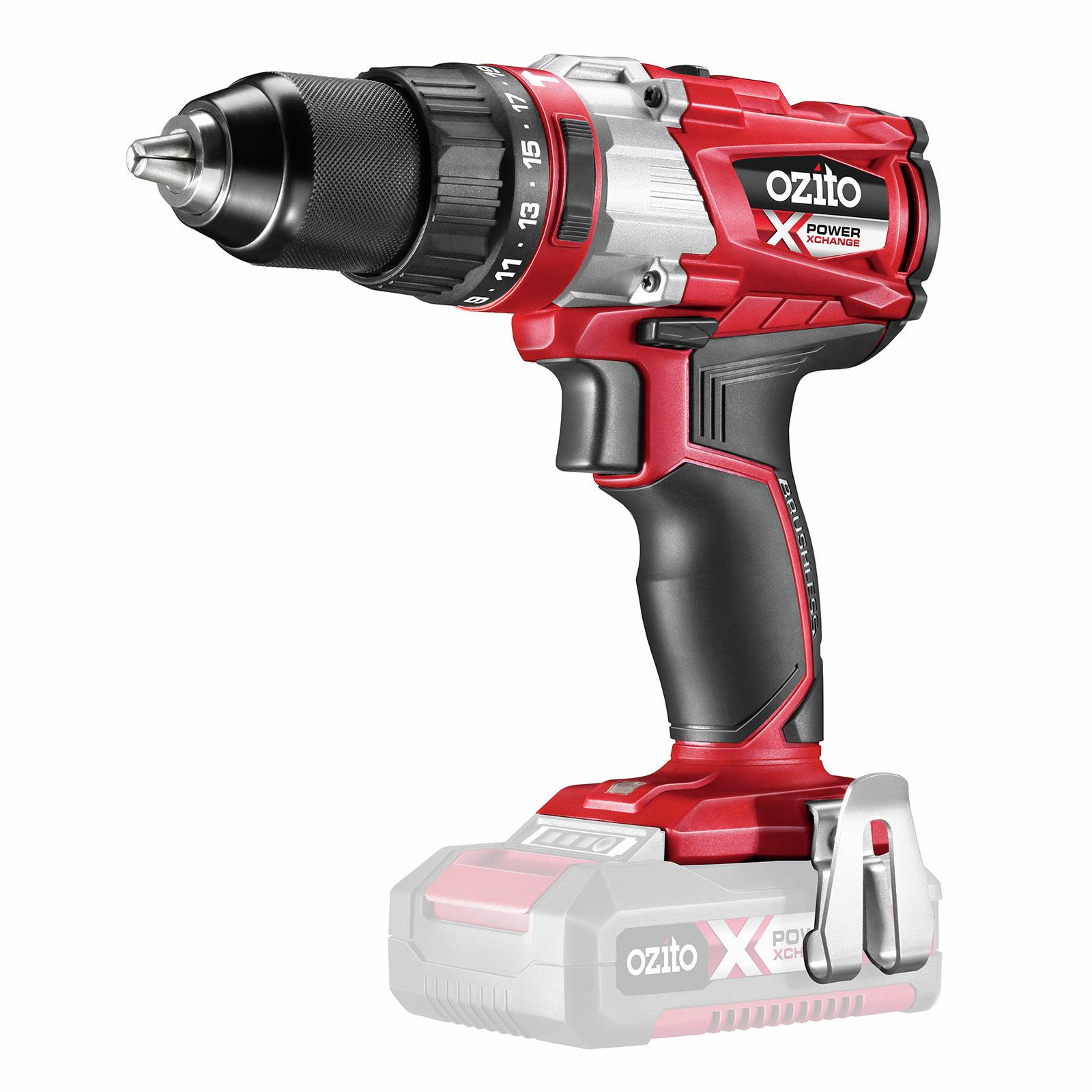 Ozito PXC 18V Brushless Hammer Drill - Skin Only