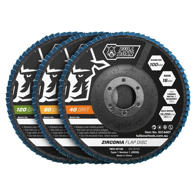 100mm Flap Disc 40/80/120 Grit
