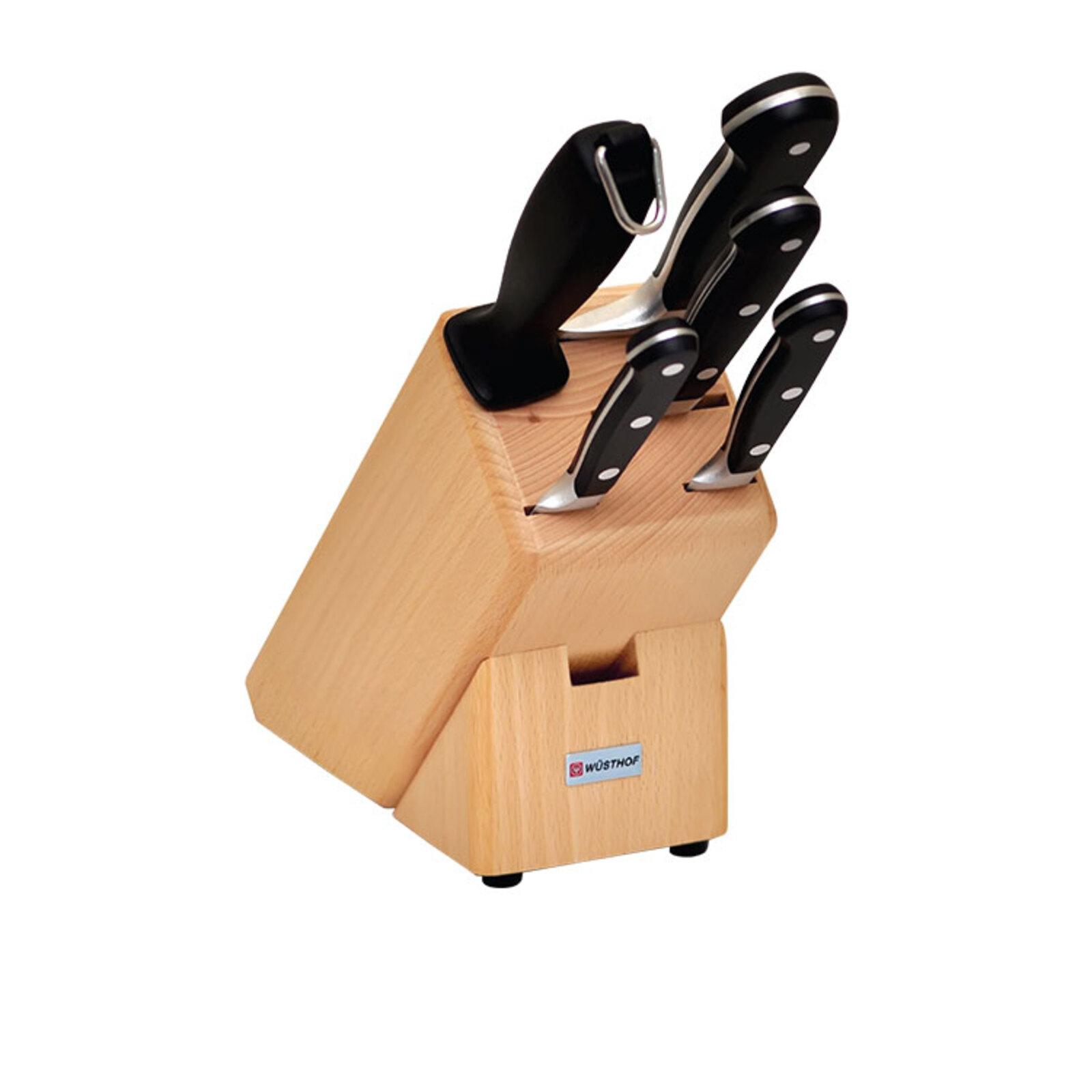 Wusthof Essential Classic 6pc Knife Block Set