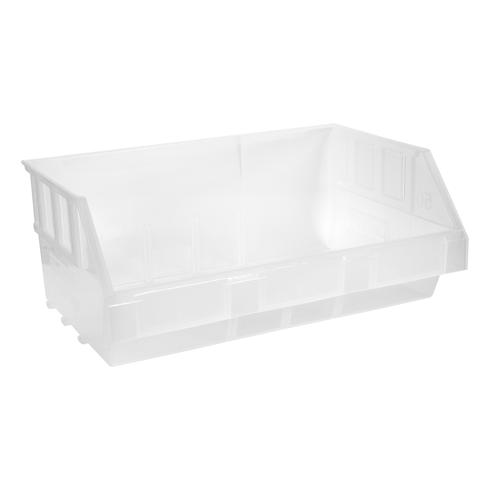 Handy Storage Size 50 Clear Plastic Tote