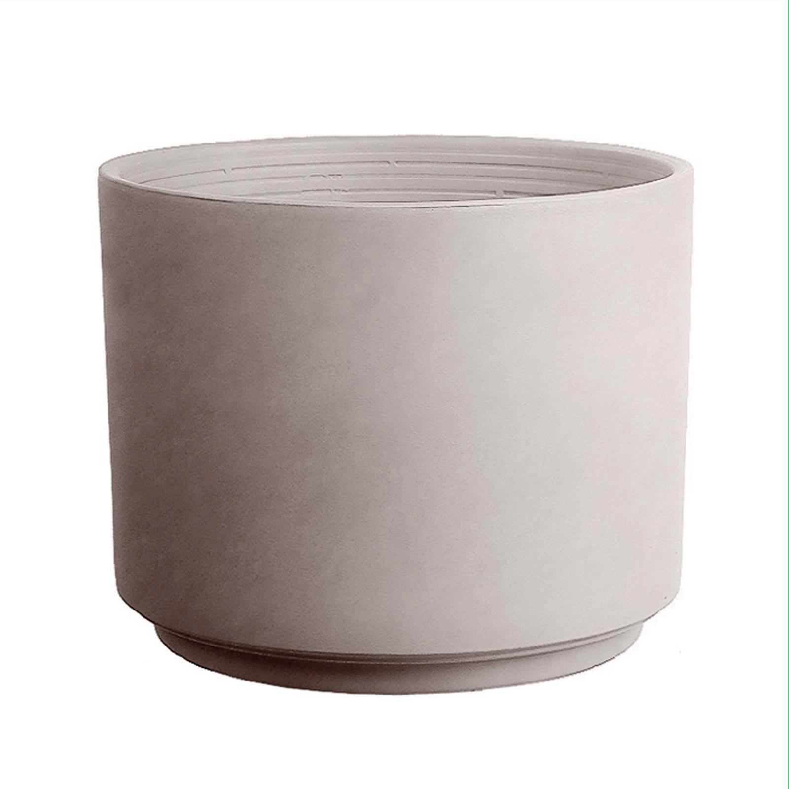 Northcote Pottery 15cm Italian Greige Terracotta Cylinder Pot