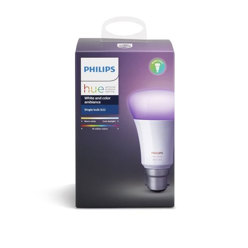 Philips Hue 10W White And Colour Ambiance B22 Bulb
