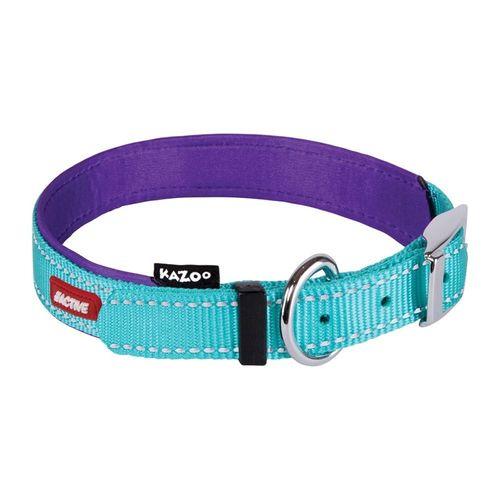 Kazoo Active Nylon Dog Collar Aqua & Purple Ex Large