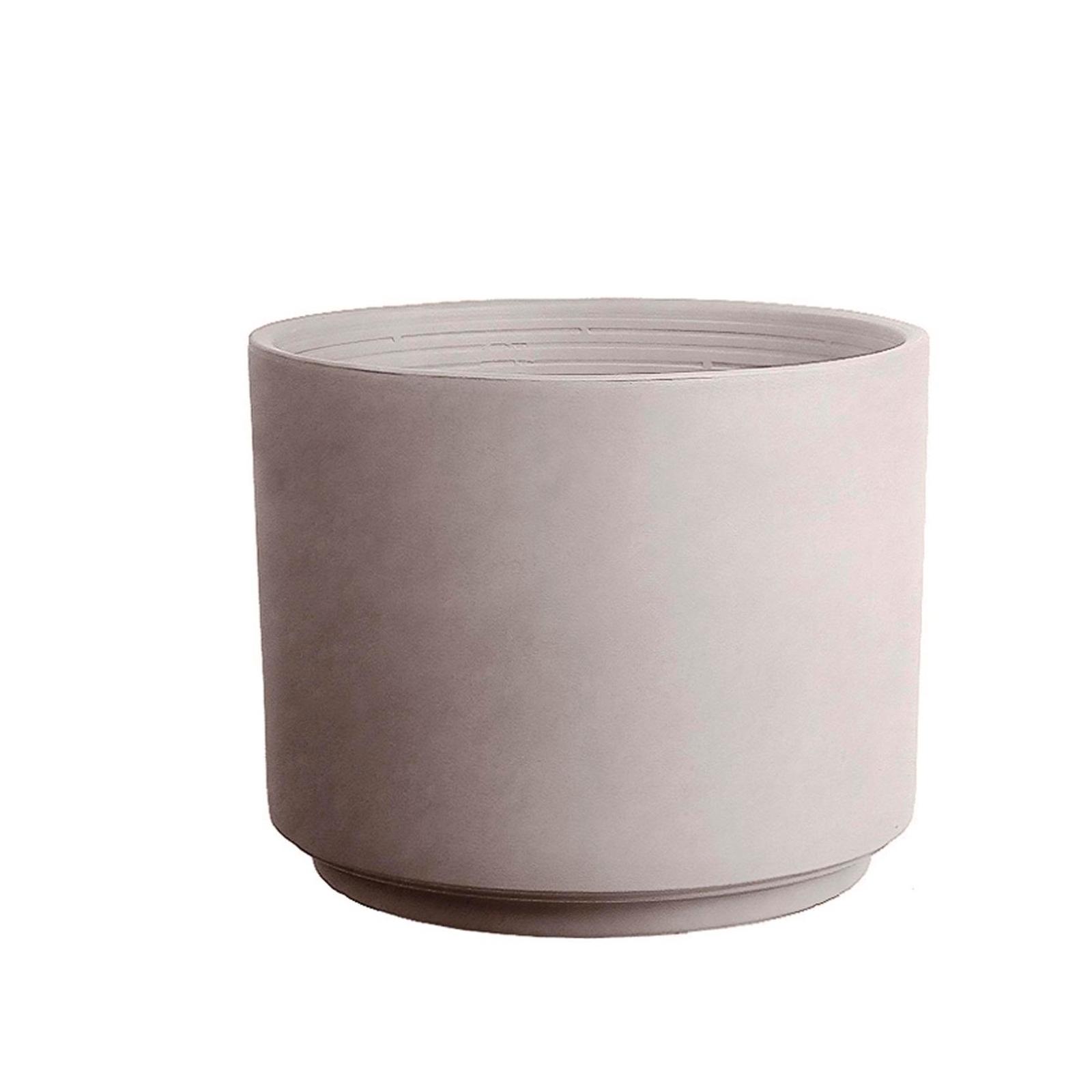 Northcote Pottery 25cm Italian Greige Terracotta Cylinder Pot