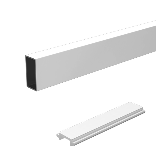 Peak Products 1200mm White Aluminium Balustrade Wide Baluster And Spacer Kit