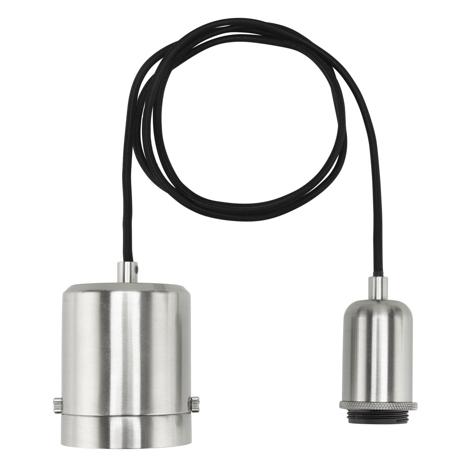 Brilliant Chrome Maggie Plug-In DIY Shade Holding Suspension Pendant