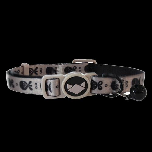 La Doggie Vita Go Fish Taupe Black Cat Collar