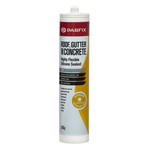 Parfix 300g Grey Roof Gutter And Concrete Silicone