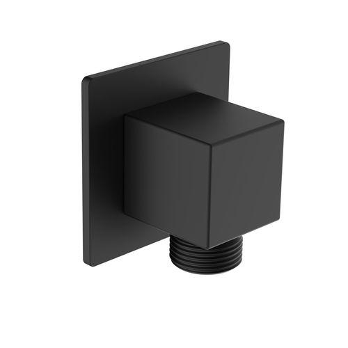 Mondella Matte Black Rococo Square Shower Elbow