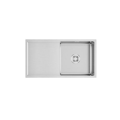 Sergio UBSH-830D Urbane Handmade Single Stainless Sink with Smooth Drainer