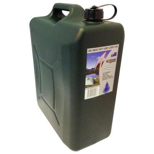 AdVenture Products 20L Army Green Heavy Duty Jerry Can With Bung