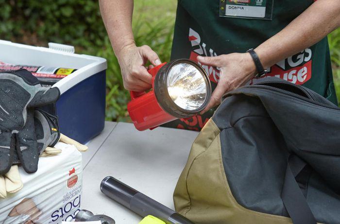 DIY Step Image - How to prepare a bushfire survival kit . Blob storage upload.