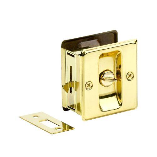 Sylvan Polished Brass Bathroom Sliding Door Pull