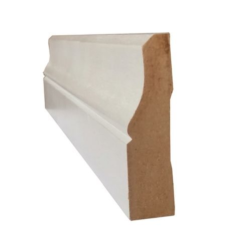 Hume 92 x 18mm x 2.7m MDF Moulding Lambs Tongue Primed