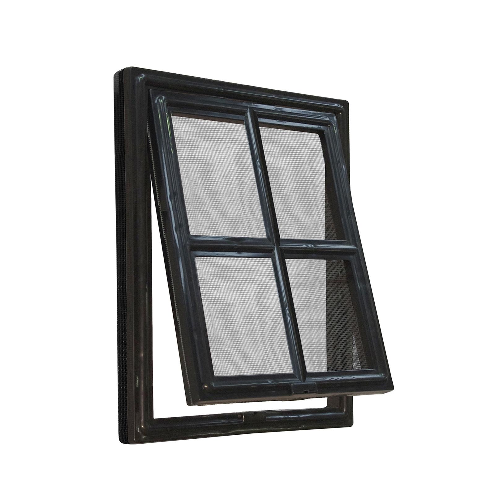 Pillar Products 300 x 400mm Extra Large Flyscreen Pet Door Black