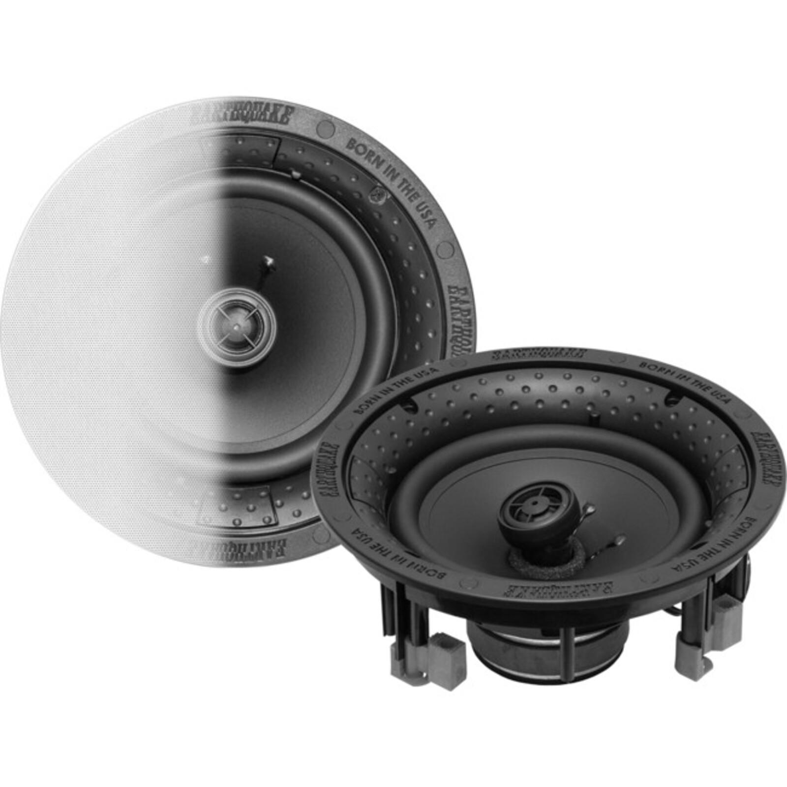 """Earthquake 8""""Reference Ceiling Speakers Edgeless Design For Seamless Blend 8""""Reference Ceiling Speakers Edgeless Spk Pair"""