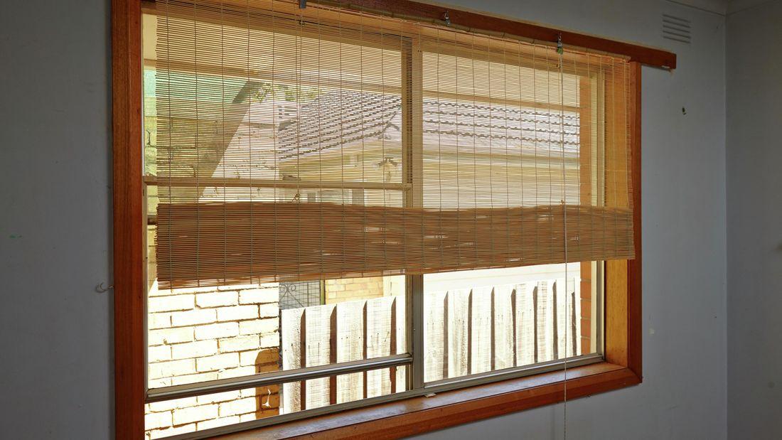 DIY Step Image - How to install matchstick blinds . Blob storage upload.