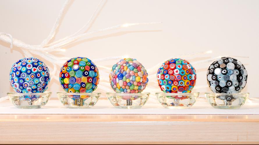 Mosaic art spheres