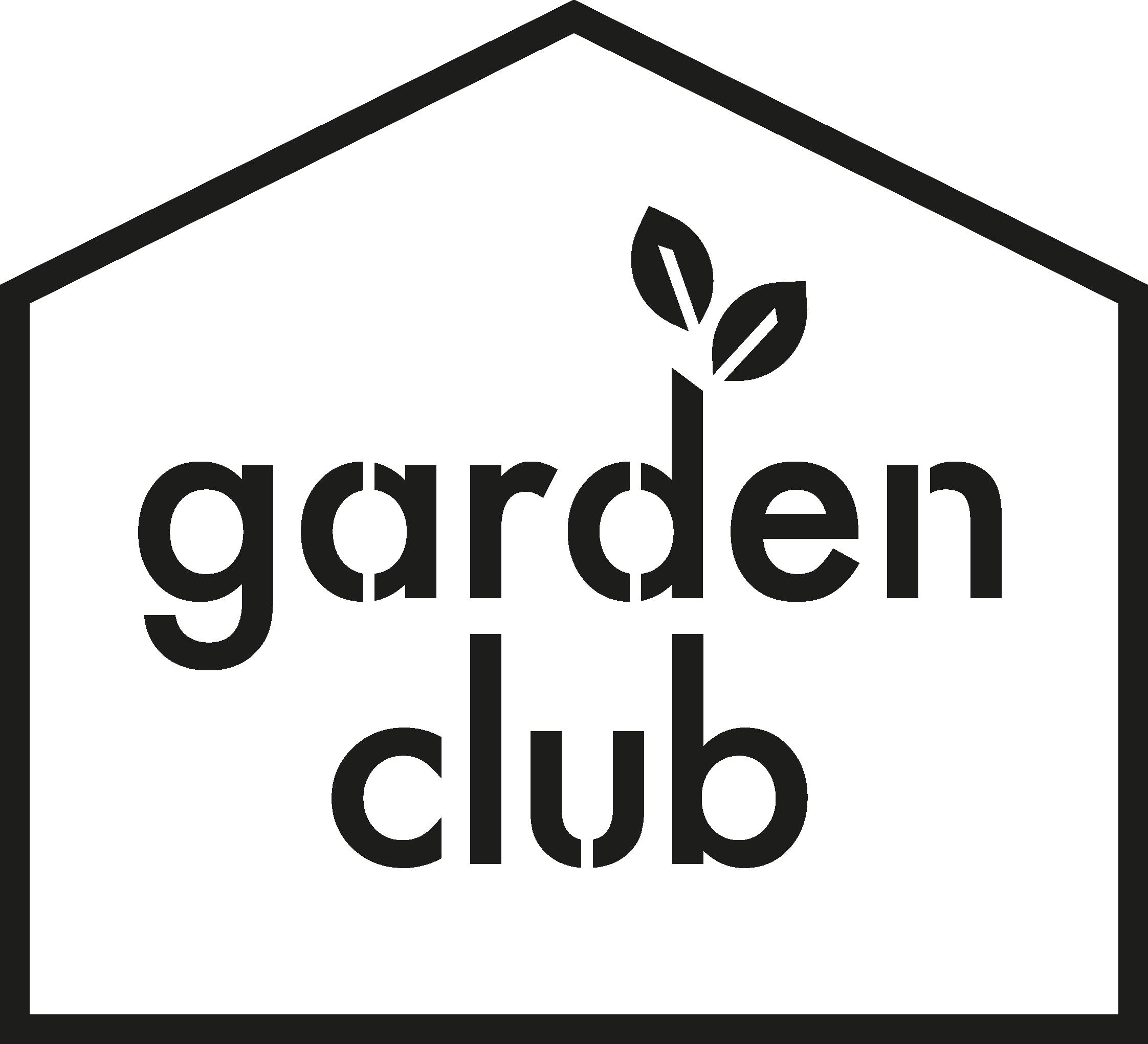 garden club logo black