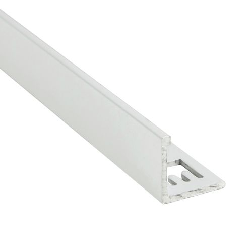 QEP 12.5mm x 3m White Angle L Shape Tile Trim