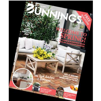 september bunnings magazine cover