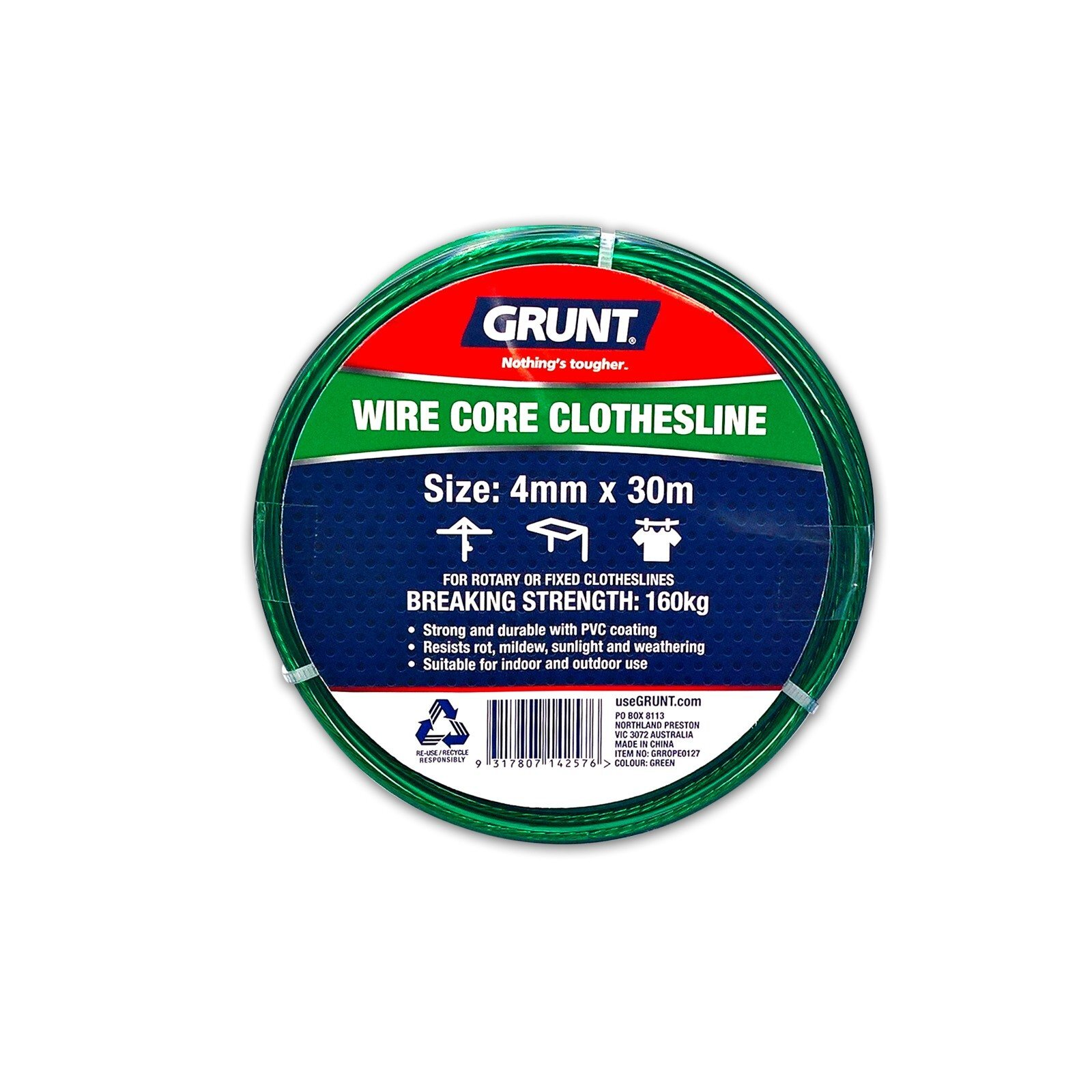 Easy DIY Replacement*Australian Brand Grunt Poly FIBRE CORE CLOTHESLINE 4mmx30m