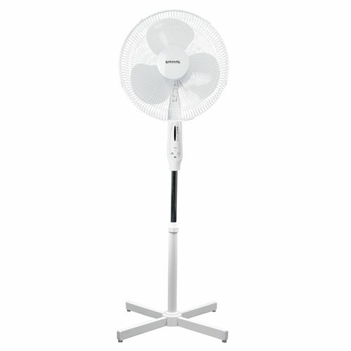 Euromatic 40cm White Pedestal Fan With Remote