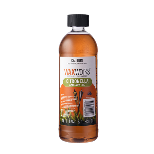 Waxworks Citronella Sandalwood Scented Lamp Oil - 1L