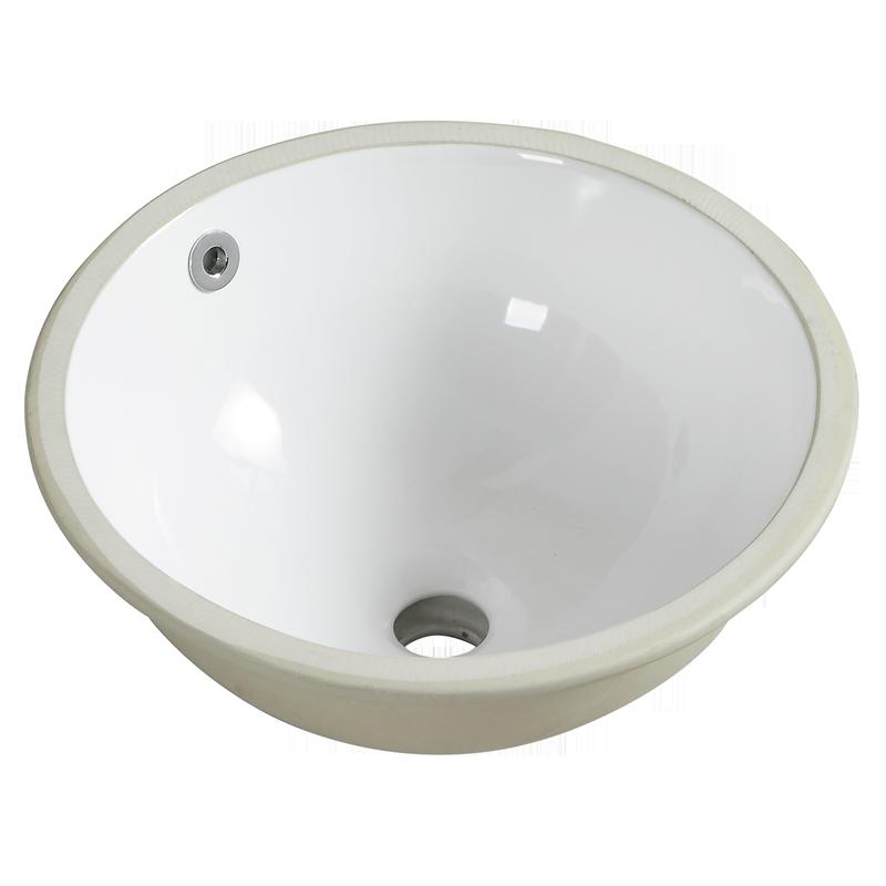 Resonance 385 x 385 x 165mm White Undercounter Basin