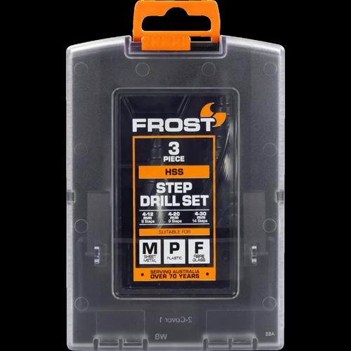 Frost 3 Piece HSS Step Drill Set