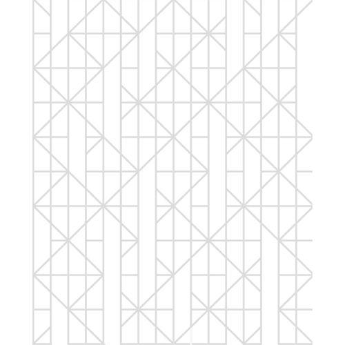 Designer White Linear Wallpaper - Linear White ½m