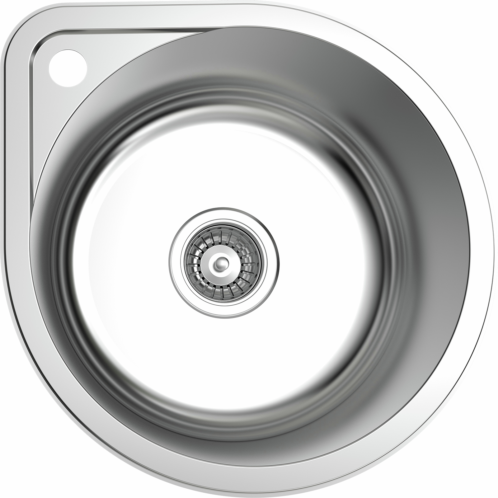 Mondella Resonance Single Bowl Round Sink With Tap Landing