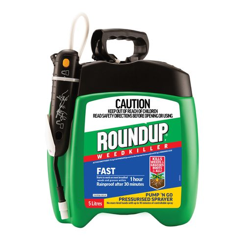 Roundup 5L Fast Ready To Use Pump N Go Weedkiller