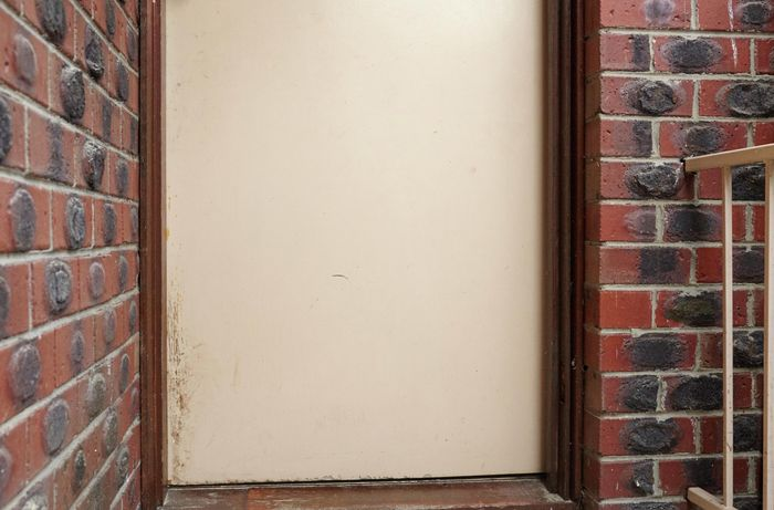 DIY Step Image - How to install a pet door . Blob storage upload.