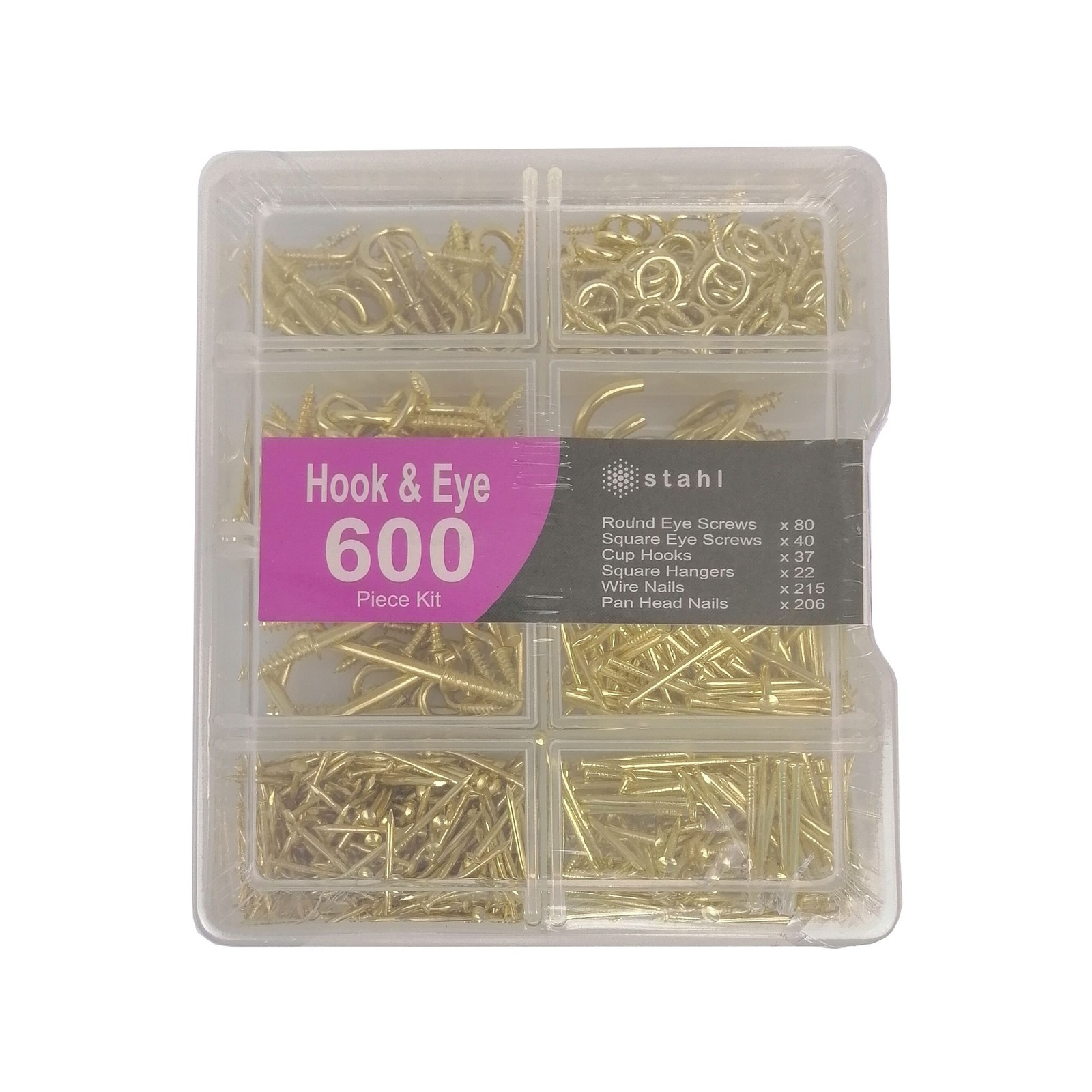 Stahl 600 Piece Assorted Hook And Eyescrew Kit