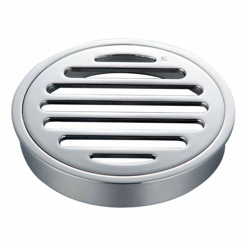 Kinetic 100mm Chrome Plated Round Floor Grate